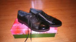 туфли кожаные 24, 5 см без каблука