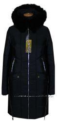 пальто зимнее 42-56размеры 90см черное