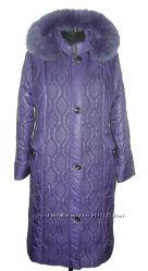 Зимнее пальто для пышной формы 115см 54-66размер