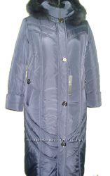 теплое зимнее пальто 52-66 размер длина115см