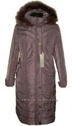 очень теплое пальто на силиконе 56-70р  длина 115см