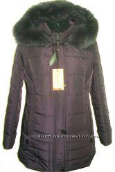 курточка с натуральным мехом для пышных форм 52-66размер 80см длина