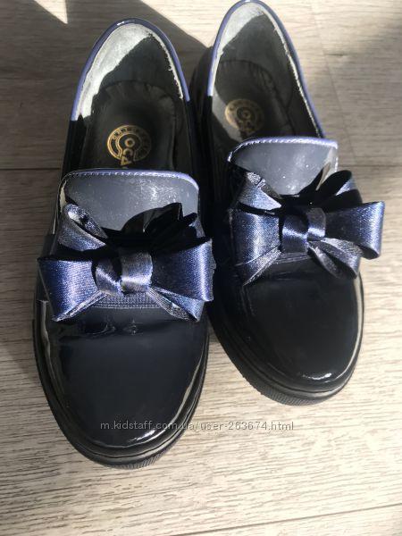 Туфельки для девочки, Италия, 32размер, кожа
