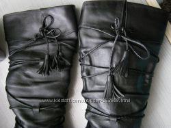 сапожки с декором-шнуровкой