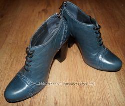Стильные кожаные ботильоны-ботинки