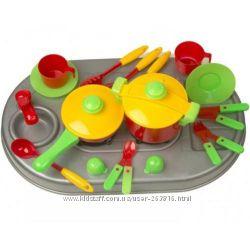 Продаем детскую кухню - Плита с мойкой и набором посудки 04-410 ТМ Киндерве