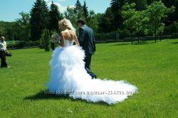 свадебное платье со сьемным шлейфом
