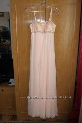 Новое вечернее персиковое платье макси