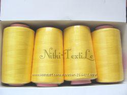 Нитки швейные для бытовых и скоростных швейных машин , оверлоков.