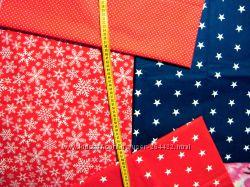 Ткани новогодние, наборы хлопка для рукоделия