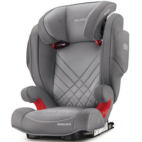 Автокресло RECARO Monza Nova 2 SeatFix Aluminium Grey новая коллекция