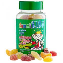 Gummi King, Эхинацея с витамином С и цинком, Для детей, 60 жевательных табл