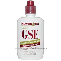 NutriBiotic, Жидкий концентрат GSE, с экстрактом семян грейпфрута, 59 мл
