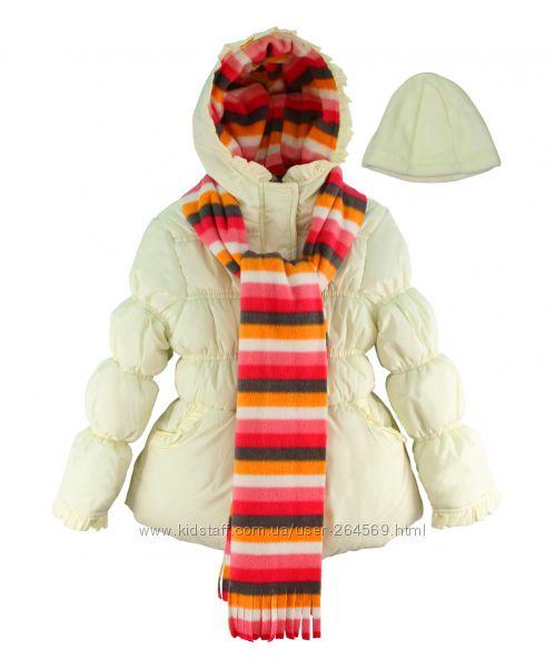 Модная куртка с шапкой и шарфом Pink Platinum для девочки