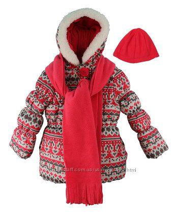 Фирменная куртка с шапкой и шарфом Pink Platinum для девочки