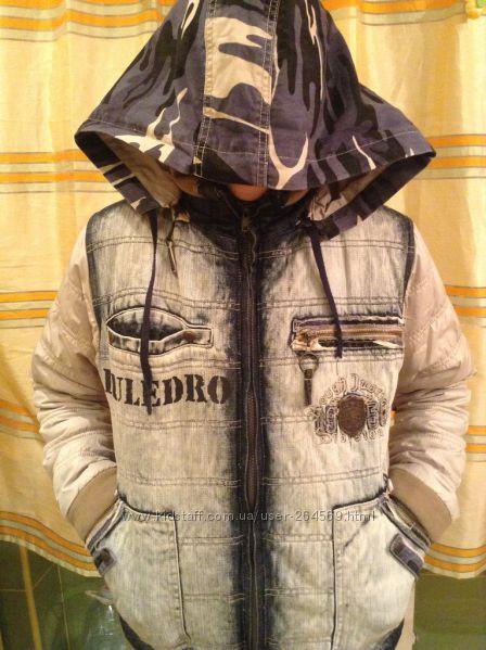 Комплект классная модная куртка бомбер и джинсы-двойка для стильного парня
