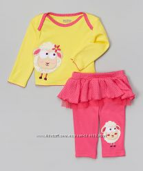 Модный веселый яркий костюм комплект для девочки из США от Nuby