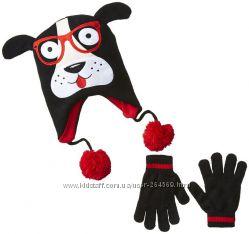 Акция-10 Яркие наборы шапки перчатки варежки для мальчиков и девочек из США