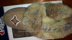 Мокасины тапки для прогулок удобные теплые натуральные США фирменные Pajar
