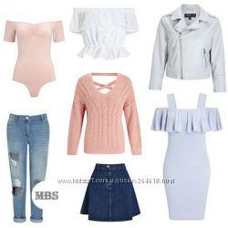 Женская одежда  Missguided сток оптом Англия. Платья, Куртки, Джинсы, Юбки