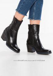 Кожаные итальянские ковбойские сапоги, ботинки демисезонные, Байкерские