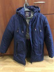 Удлинённая зимняя куртка 11-14 лет