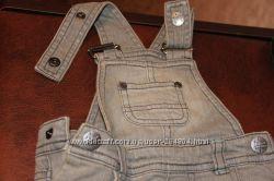 Комплект джинсовый комбинезон и реглан на мальчика Mothercare