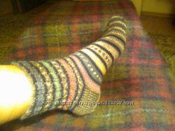 Ножки в тепле - тонкие шерстяные носки ручной вязки, готовимся к праздникам