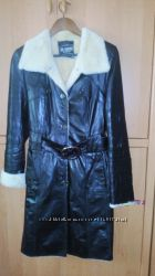 Кожаное пальто дубленка с подкладкой на овчине