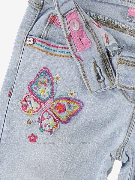 Джинсы-Вышивка Бабочки-104и110- Waikiki- Джинсы Стразы/Вышивка -104--116см