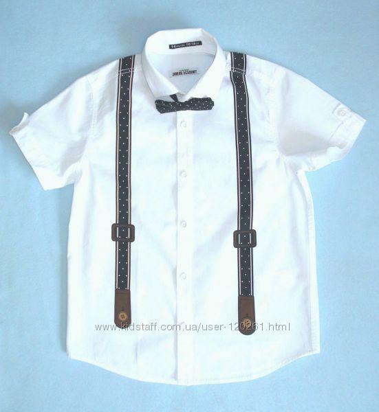 Тениска/бабочка/подтяжки-122и134см-Нарядные Рубашки/Тениски-116-140-Waikiki