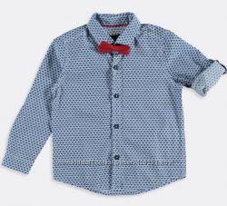 Рубашка-принт/красная бабочка-128-Нарядные Рубашки/Бабочка-116-140-Waikiki