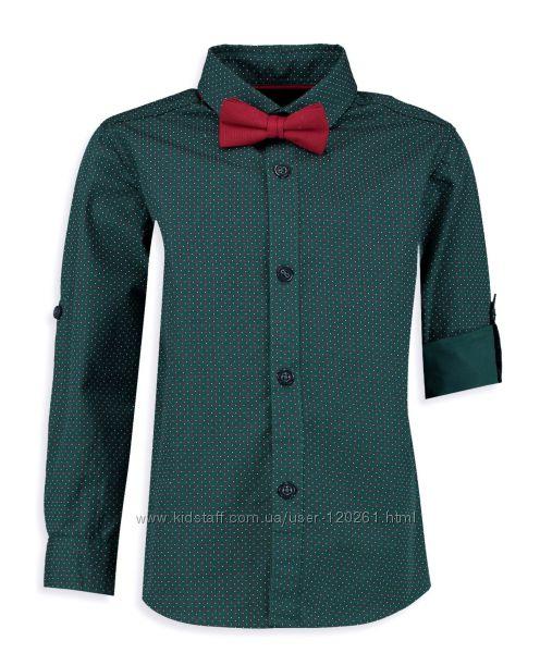 Зеленая Рубашка-116-140см-Борд. Бабочка- Нарядные Рубашки-116-152см- Waikiki