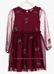 Нарядное платье-Хлоп. /Тюль-128и134-Нарядные Платья 116--160см- LC Waikiki