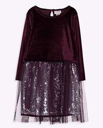 Платье-Барх. верх/тюль/паетки-146-152-Нарядные Платья 116--146см- LC Waikik