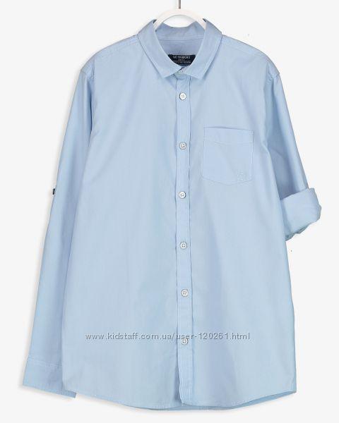 Голубая Рубашка-116--140- Нарядные Рубашки-Бабочка/Галстук-Waikiki 110--152