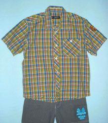 Тениска-шведка-116см- Хлопковые Рубашки-Клетка, Полоска-LC Waikiki 104-128см
