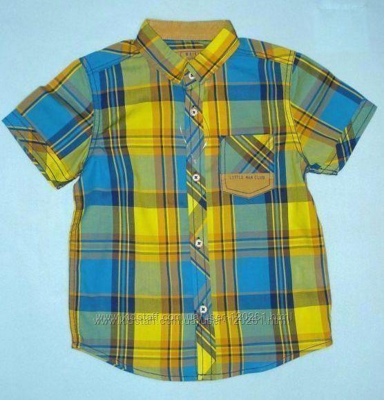 Тениска-шведка-110см- Хлопковые Рубашки-Клетка, Полоска-LC Waikiki 104-128