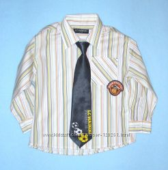 Рубашка и галстук/принты-104см- Еще Хлопковые Рубашки LC Waikiki-104-128