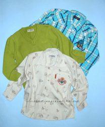 Рубашка-принт Инструменты-110см- Еще Хлопковые Рубашки LC Waikiki-104-128