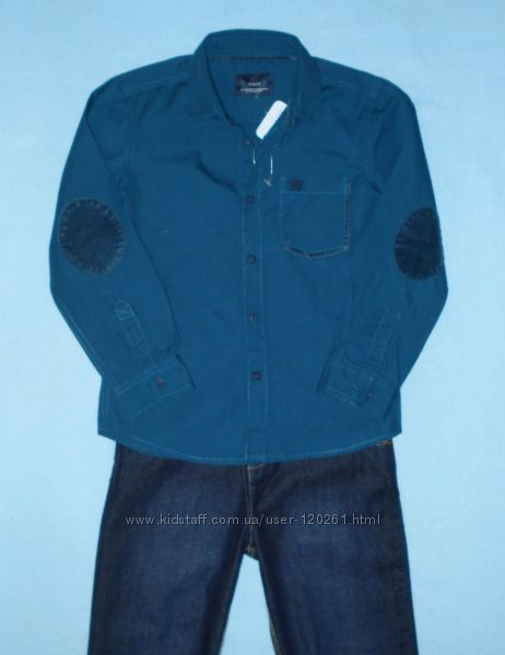 Стильная Рубашка-Вельвет. налокотники-116--128см- Рубашки LC Waikiki-104-12