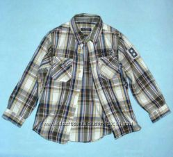 Стильная Рубашка-Шведка/нашивка-110см- Хлопковые Рубашки LC Waikiki-104-12
