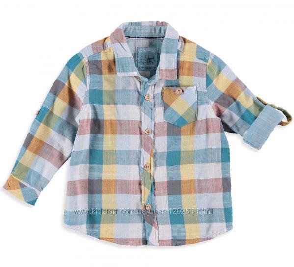 Хлопковая Рубашка-Клетка-110см-Стильные Хлопк. Рубашки 104--128см-LC Waikiki