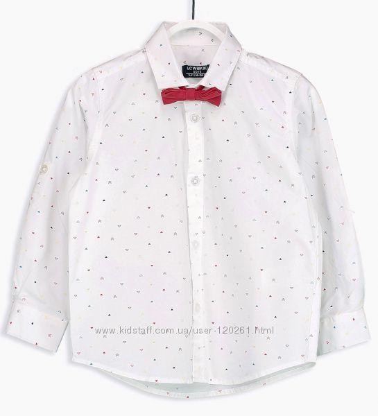 Рубашка-Принт/Бабочка-116-128- Хлопк. Рубашки/ Тениски 104--128см-LC Waikik