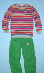 Хлопк. Разноцветный Джемпер--116и122см- Еще Кофточкис рисунком-LC Waikiki