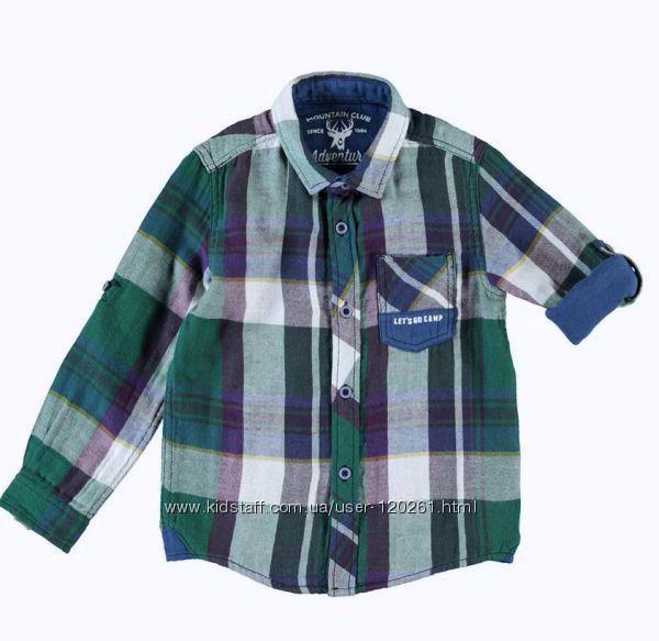 Рубашка-Клетка-116см-Нарядные Рубашки- Рубашки на Подарок-104--140-Waikiki