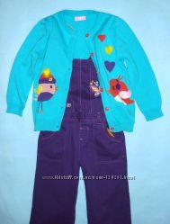 Мятная кофта-цветные птички-110см- Кофточки с рисунками-110-134-LC WAIKIKI