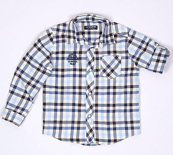 Рубашка-Шведка/Рукав подстегивается-122см-Рубашки LC Waikiki 104-134см