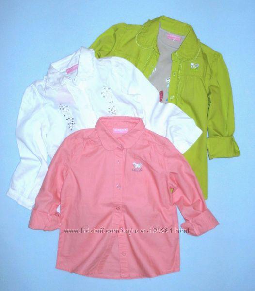 Хлопковые Блузки--104-116см-Белые/Цветные Блузки-104--140cм-Waikiki