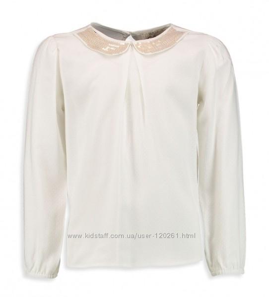 Блузка-Золотой воротник 122--134см- Белые/Цветные Блузки-104--152- Waikiki